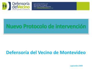 Defensoría del Vecino de Montevideo  septiembre 2009