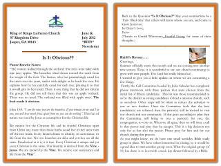 King of Kings Lutheran Church 57 Kingdom Drive Jasper, GA 30143