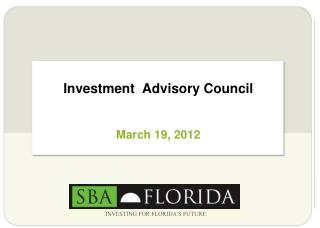 Investment  Advisory Council