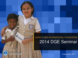 2014 DGE Seminar