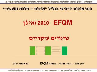 ???? ??? � ???? ?????? - ?????  EFQM 12 ???? 2011