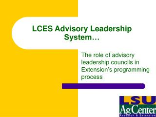 LCES Advisory Leadership System…