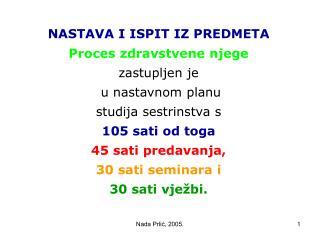 Nada Prlic, 2005.