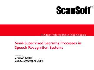 Semi-Supervised Learning Processes in  Speech Recognition Systems
