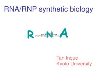 RNA/RNP synthetic biology