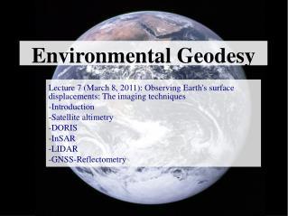 Environmental Geodesy