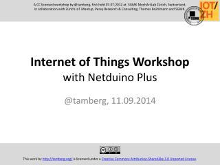 Internet of Things Workshop with Netduino Plus