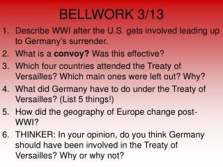 BELLWORK 3/13
