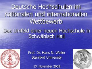 Deutsche Hochschulen im nationalen und internationalen Wettbewerb