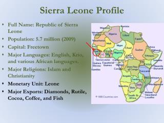 Sierra Leone Profile