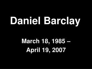 Daniel Barclay
