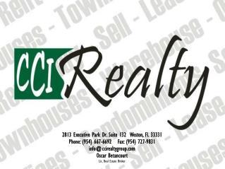 2813 Executive Park Dr. Suite 132  Weston, Fl. 33331 Phone: (954) 667-6692   Fax: (954) 727-9831