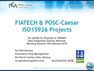 FIATECH & POSC-Caesar ISO15926 Projects