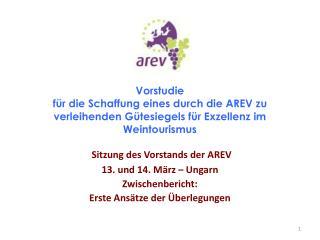 Sitzung des Vorstands der AREV 13. und 14. März – Ungarn Zwischenbericht: