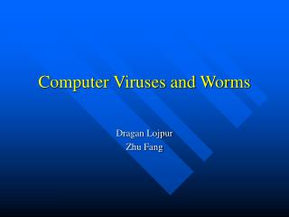 Computer Viruses and Worms