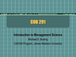 COB 291