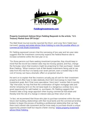 Property Investment Advisor Brian Fielding Responds to the..