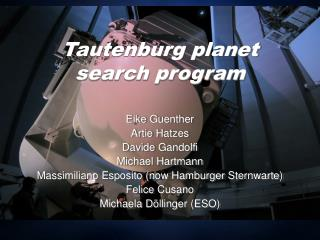 Tautenburg planet search program