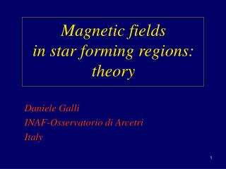 Magnetic fields                       in star forming regions:      theory