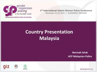 Country Presentation Malaysia
