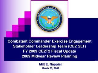Milt E. Nappier March 25, 2009