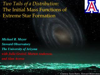 Two Tails of a Distribution : The Initial Mass Functions of  Extreme Star Formation