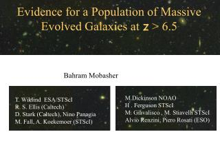 Evidence for a Population of Massive Evolved Galaxies at  z  > 6.5