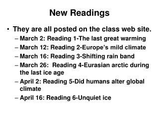 New Readings