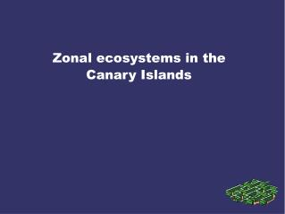Zonal ecosystems in the Canary Islands