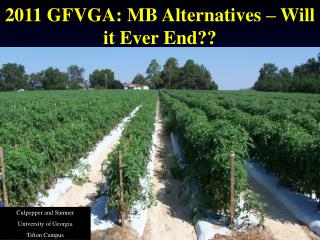 2011 GFVGA: MB Alternatives – Will it Ever End??