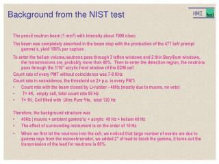 Background from the NIST test