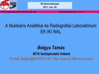 A Nukleáris Analitikai és Radiográfiai Laboratórium EK IKI NAL