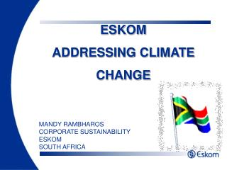 ESKOM ADDRESSING CLIMATE CHANGE