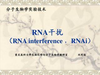 RNA 干扰 ( RNA interference , RNAi )