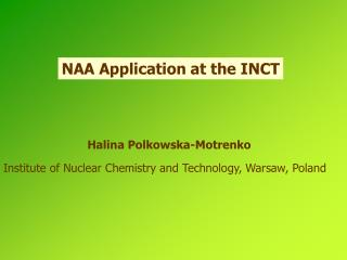 NAA Application at the INCT