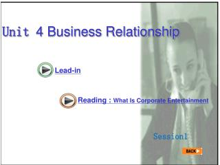 Unit  4 Business Relationship