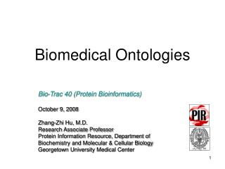 Biomedical Ontologies