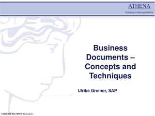 Business Documents – Concepts and Techniques
