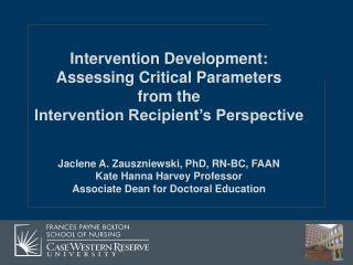 Intervention Development: Assessing Critical Parameters  from the