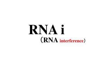 RNA i