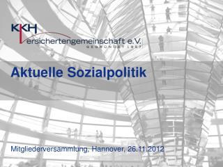 Mitgliederversammlung, Hannover, 26.11.2012