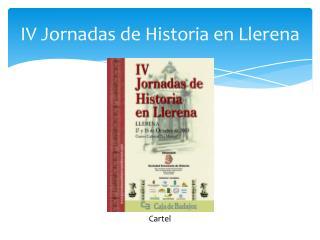 IV Jornadas de Historia en Llerena