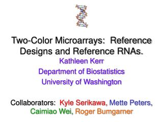Two-Color Microarrays:  Reference Designs and Reference RNAs.