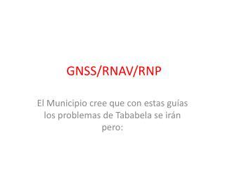 GNSS/RNAV/RNP