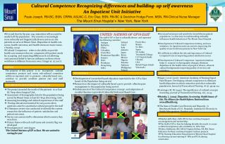 Cultural Competence Recognizing differences and building- up self awareness