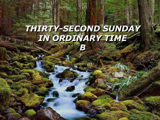 THIRTY-SECOND SUNDAY  IN ORDINARY TIME  B