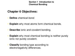 Chapter 6 Objectives:
