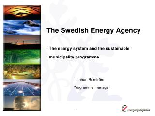 The Swedish Energy Agency   The energy system and the sustainable   municipality programme