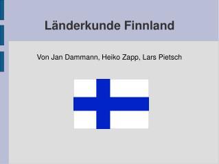 Länderkunde Finnland