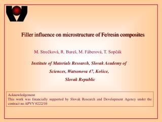 Filler influence on microstructure of Fe/resin composites